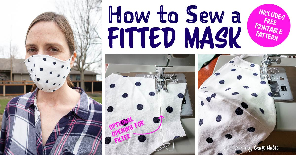 How To Make A Fitted Face Mask With FREE Pattern Sustain