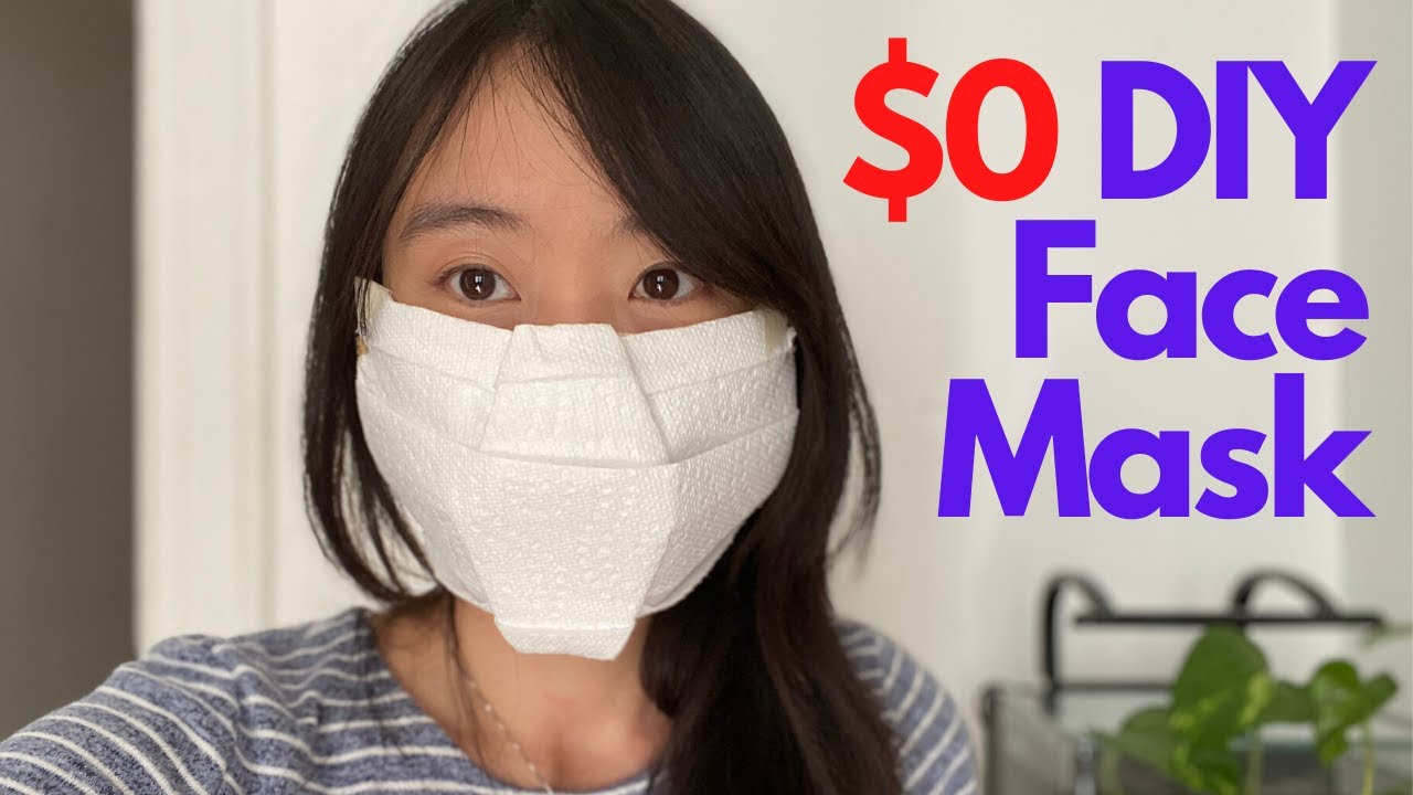 How To Make A NO SEW DIY FACE MASK 0 Quick Easy