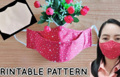 Printable Face Mask Sewing Pattern 3d