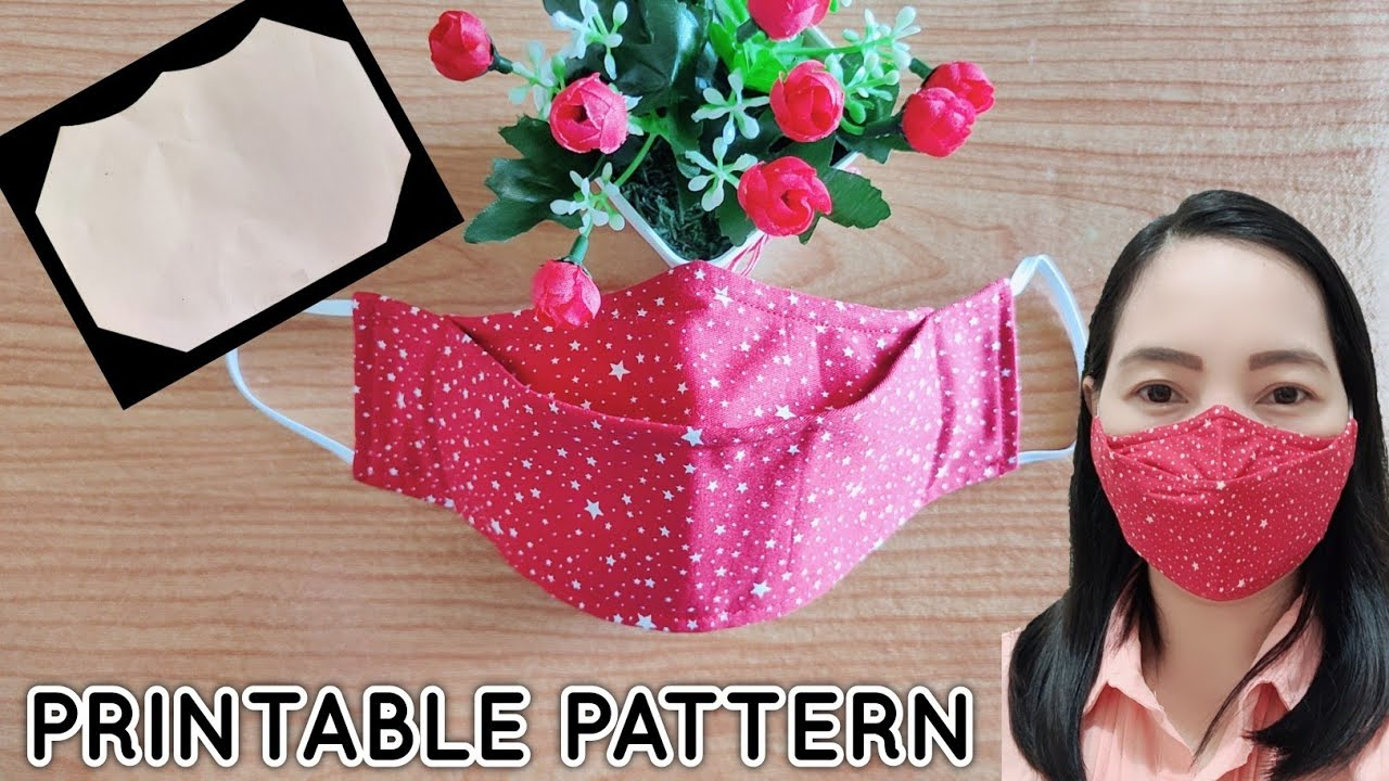 How To Sew 3D Face Mask Updated PRINTABLE Pattern YouTube