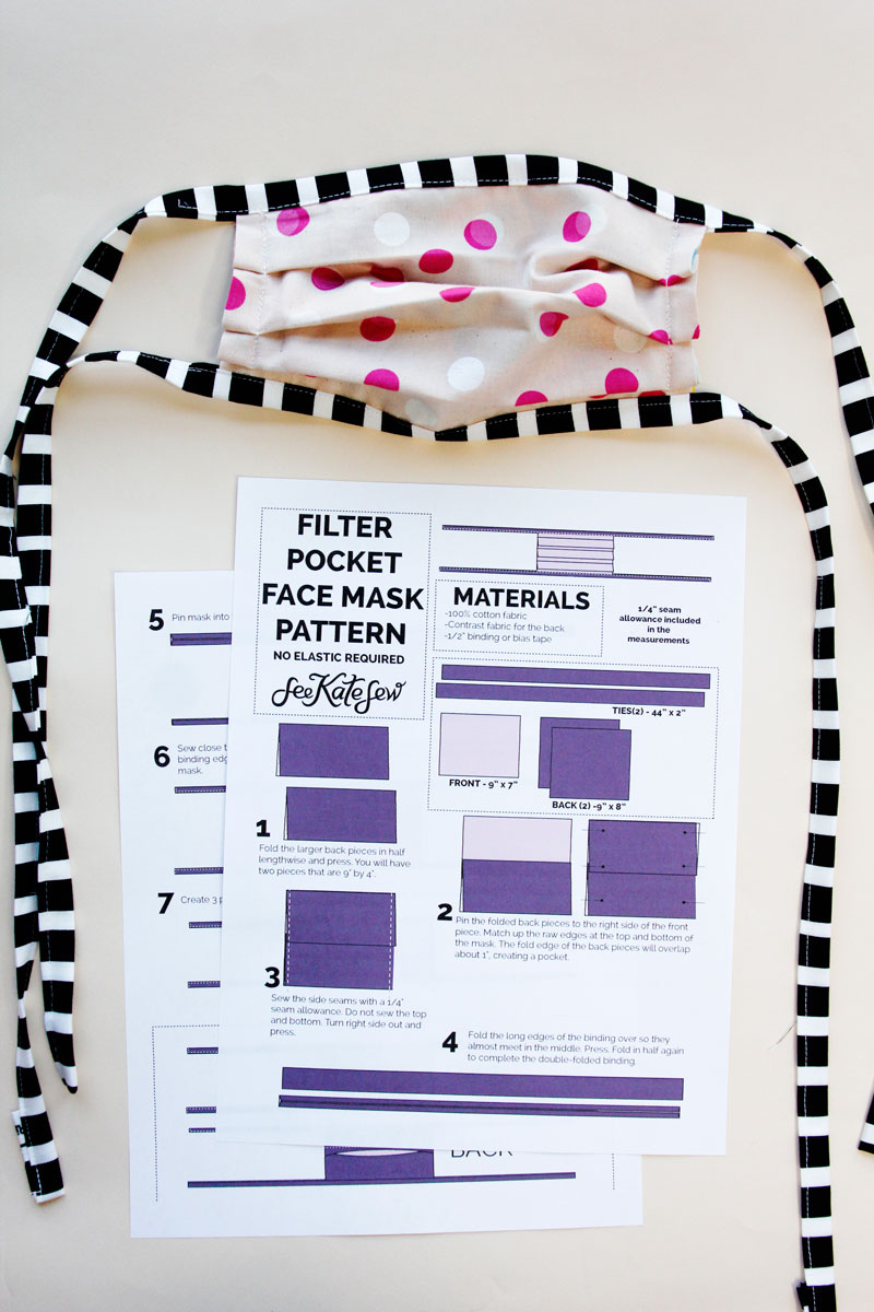 How To Sew A Face Mask With Filter Pocket NO ELASTIC