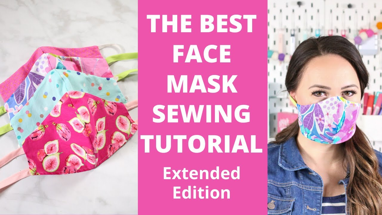 How To Sew A Fitted Fabric Face Mask For Beginners