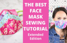 Printable Face Mask Sewing Pattern Youtube