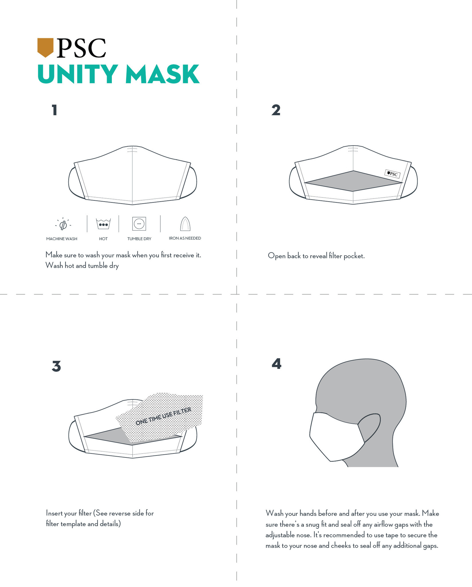 How To Use Your Face Mask And Add A Filter Pocket Square