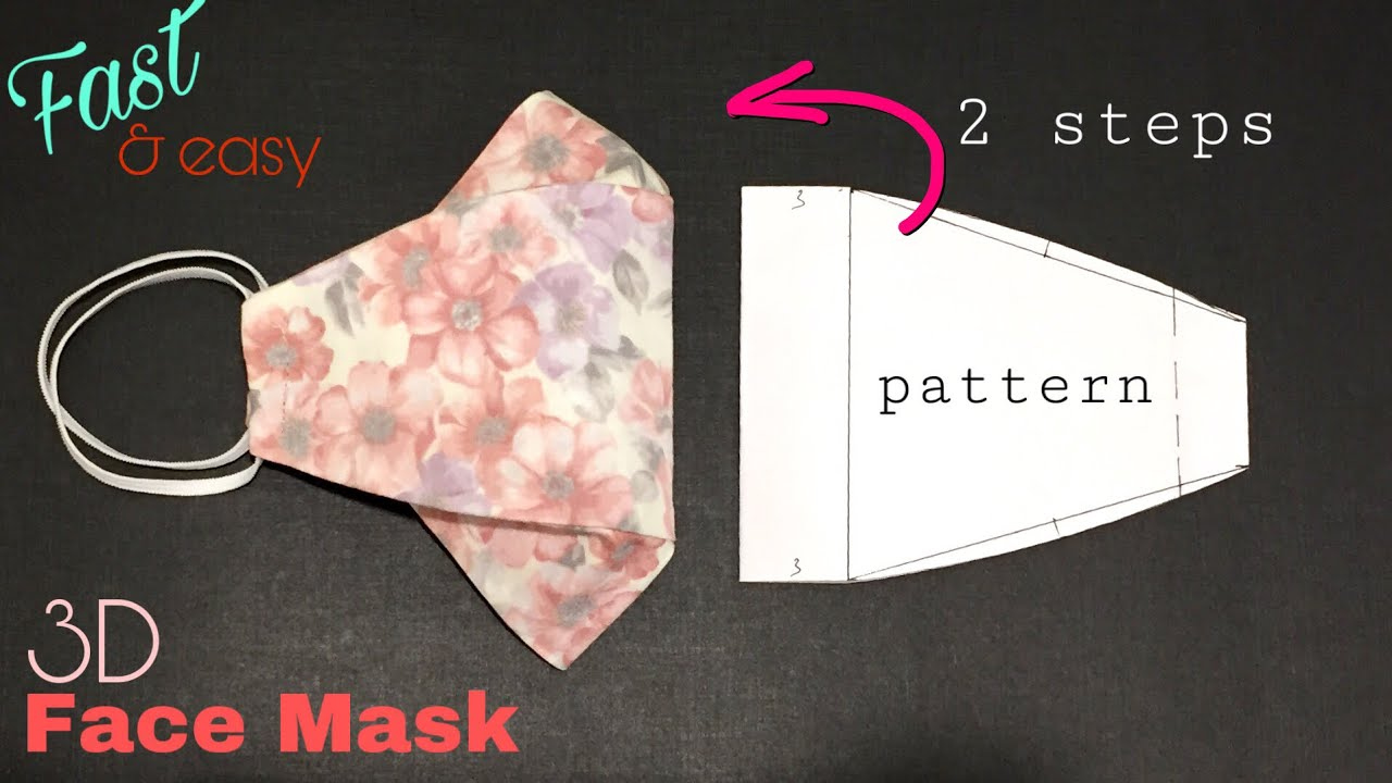 MAKE A MASK SUITABLE FOR USING GLASSES FACE MASK SEWING