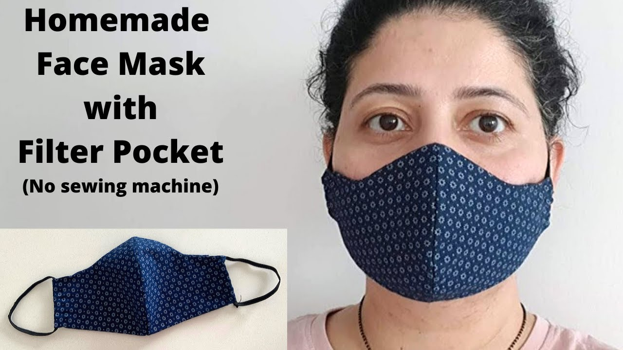 MAKE FABRIC FACE MASK AT HOME DIY Face Mask With Filter