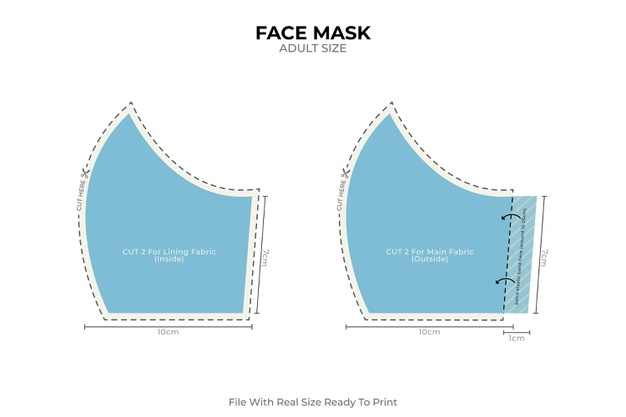 Medical Face Mask Homemade Sewing Free Vector
