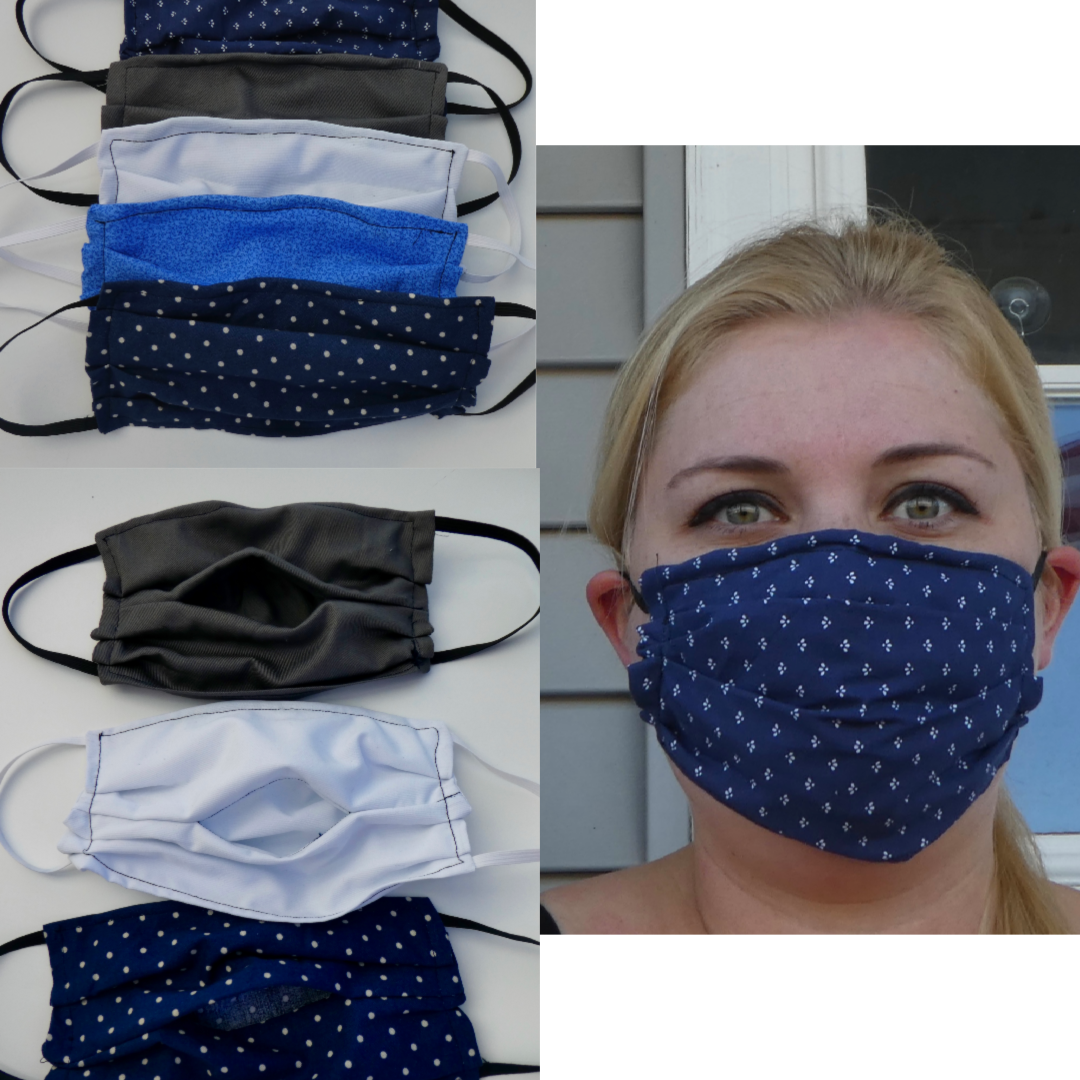 Medical Sewn Face Mask Pattern With Filter Pocket And Nose