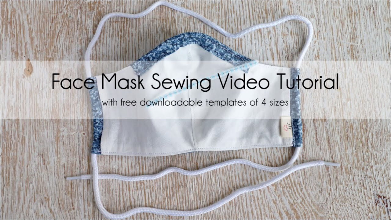 Official Face Mask Sewing Video Tutorial With Pocket For