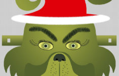 Printable Grinch Face Mask