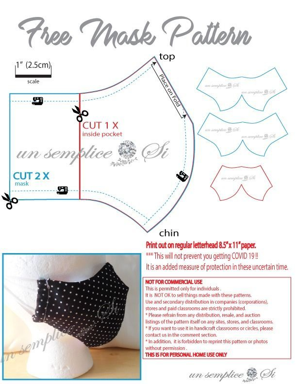 Pin On Diy Face Mask Sewing Pattern With Filter