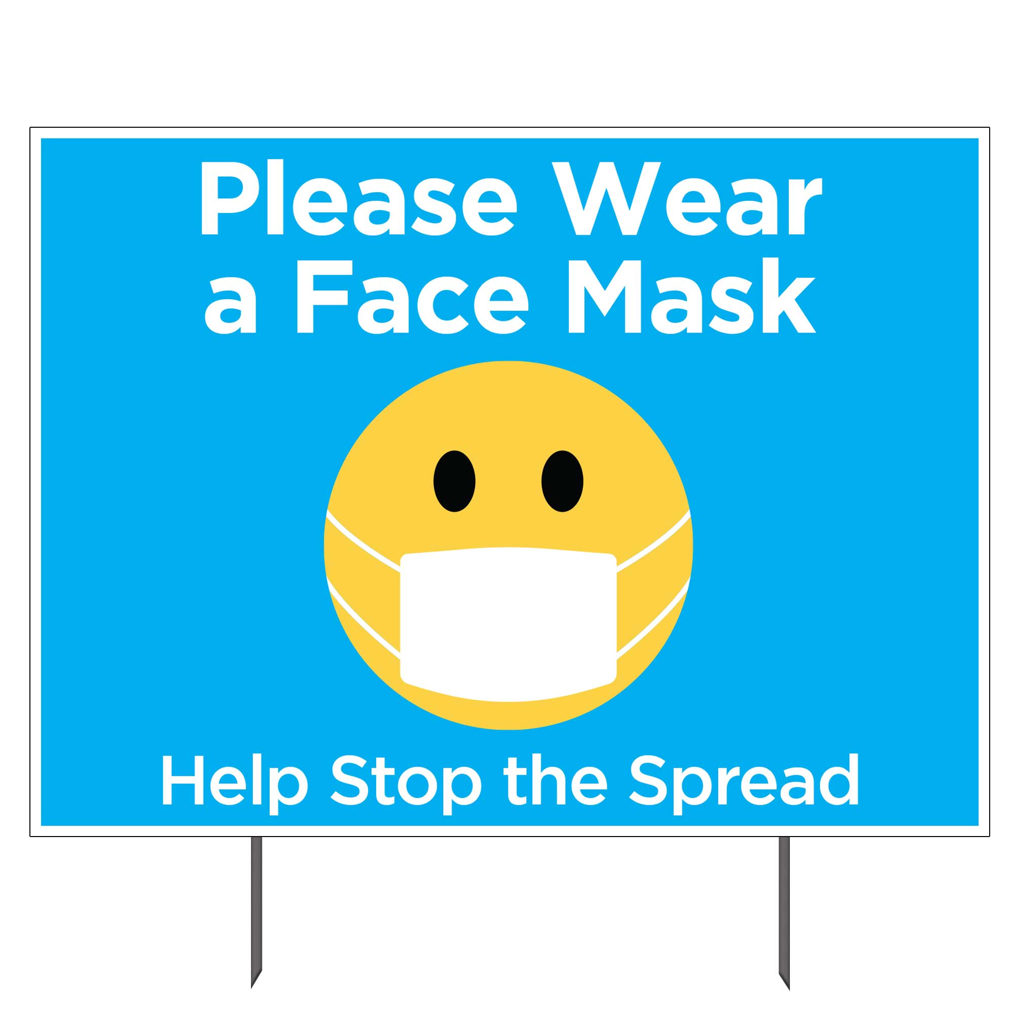 Please Wear A Face Mask Double sided Yard Sign 23x17 in