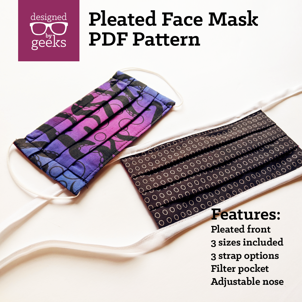 Pleated Face Mask Sewing Pattern PDF SoFontsy