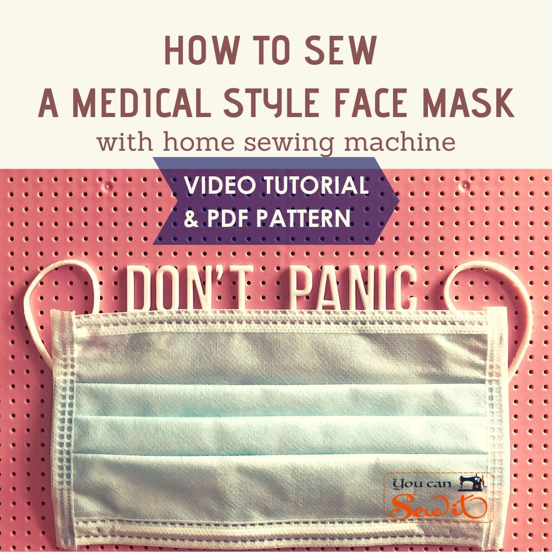 Sew A Medical Style Pleated Face Mask Tutorial Pattern
