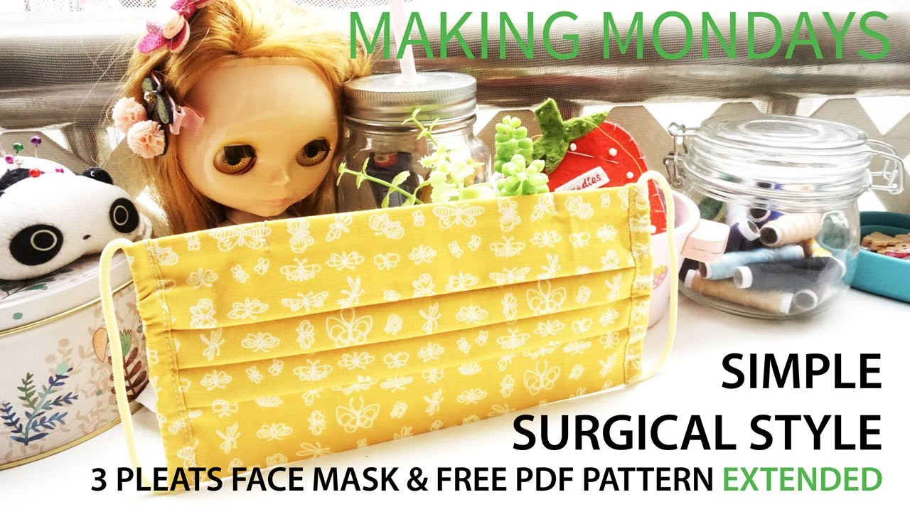 Simple Surgical 3 Pleats Face Mask Free PDF Pattern