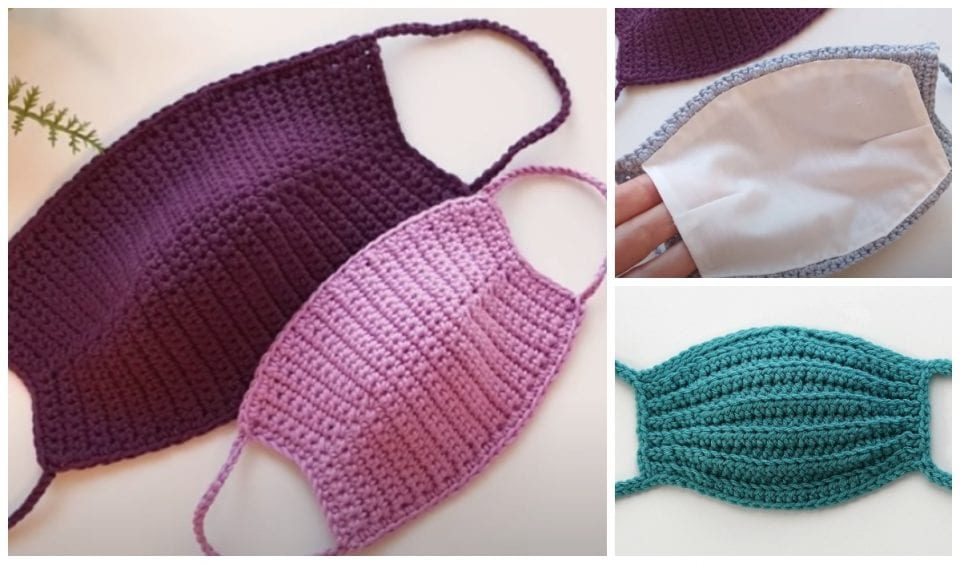 Solid Crochet Face Masks Free Patterns And Tutorials