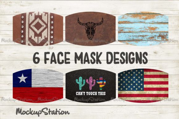 Southern Face Mask Designs Bundle Graphic By Mockup