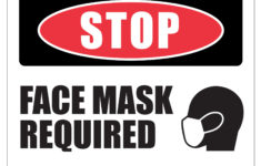 Stop Face Mask Required Double Sided Yard Sign 23×17