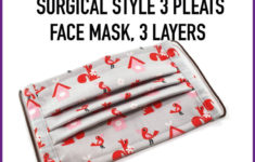 Printable 3 Layer Face Mask Pattern