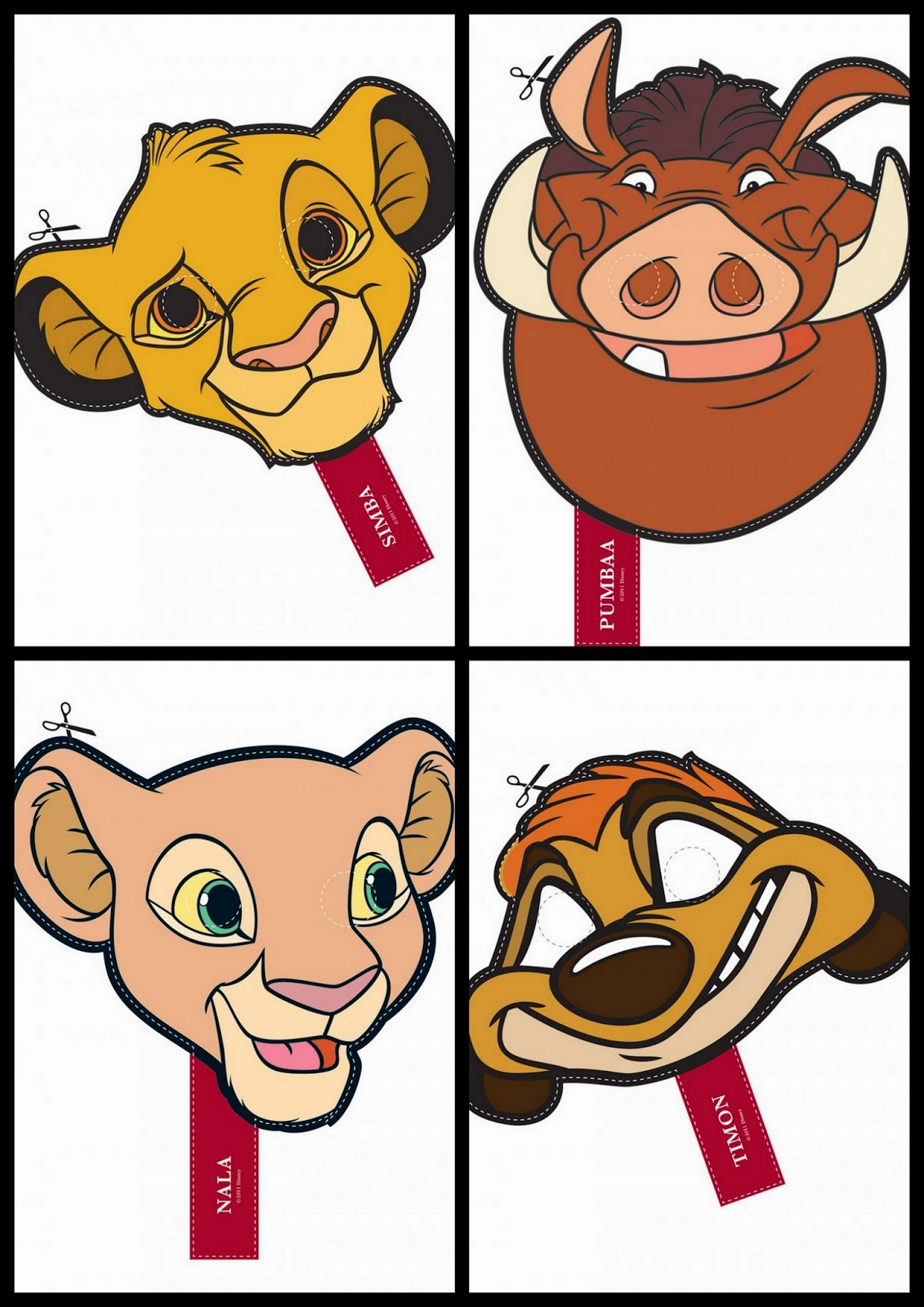 The Lion King Free Printable Masks Oh My Fiesta In English