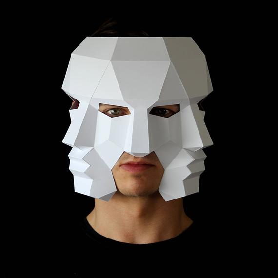 Three Face Mask Make This 3D Mask With This PDF Download And