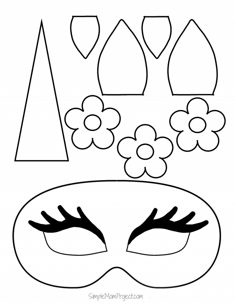 Unicorn Face Masks With FREE Printable Templates Simple