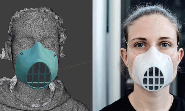 WASP Personalized PPE Mask 3D Printable 3D Printing