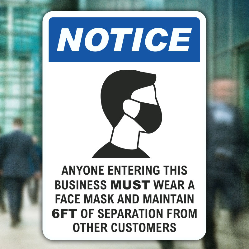Wear A Face Mask Sign D6069 By SafetySign