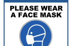 Printable Wear A Face Mask Sign