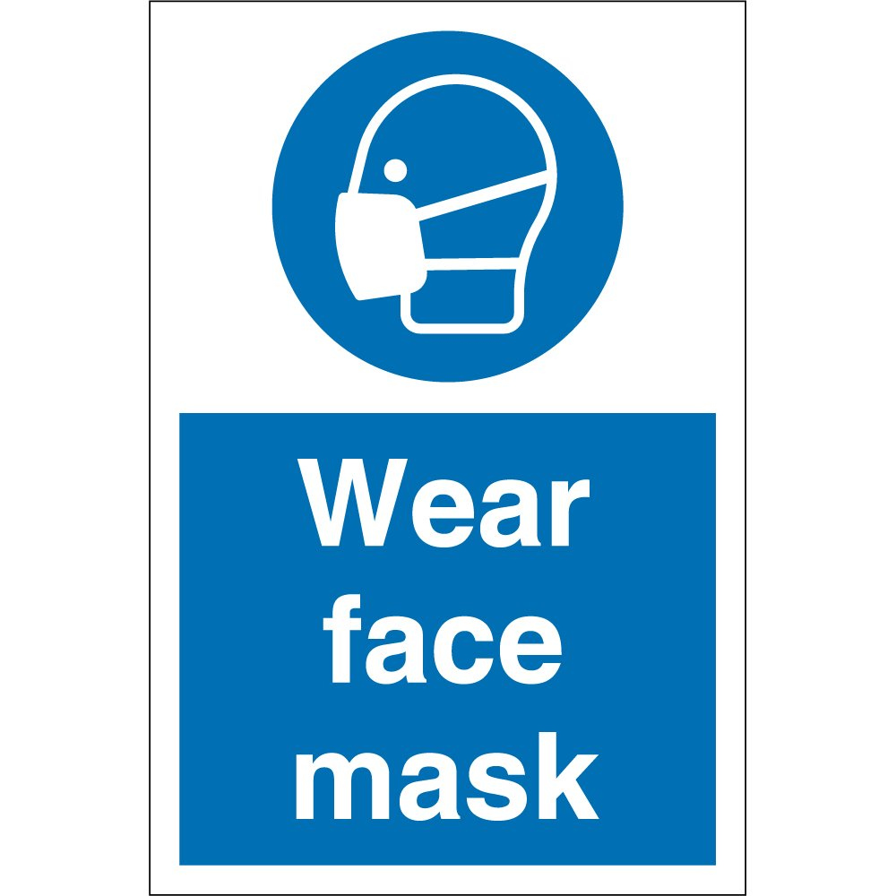 Wear Face Mask Signs From Key Signs UK